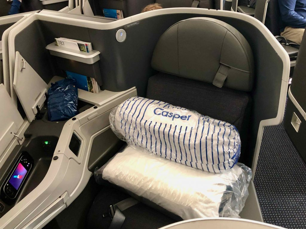 American Airlines 787 Business Class seat