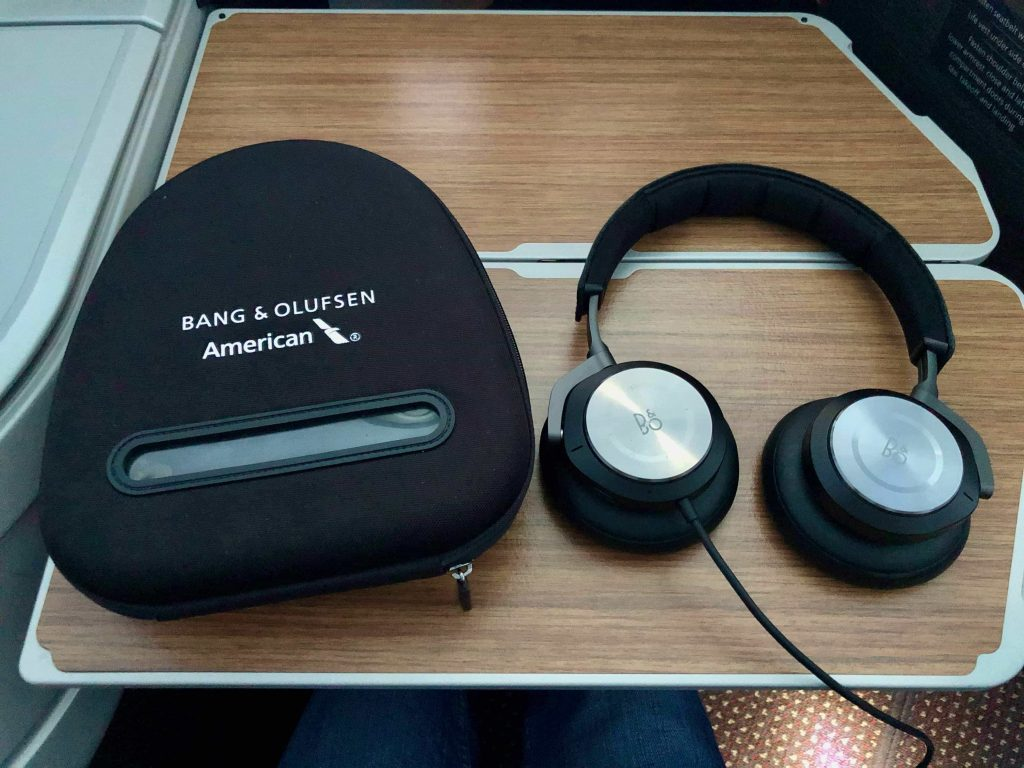 American Airlines 787-9 Business Class headphones