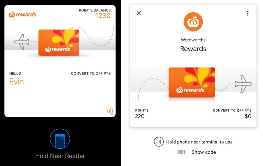 Woolworths Rewards - phone apps