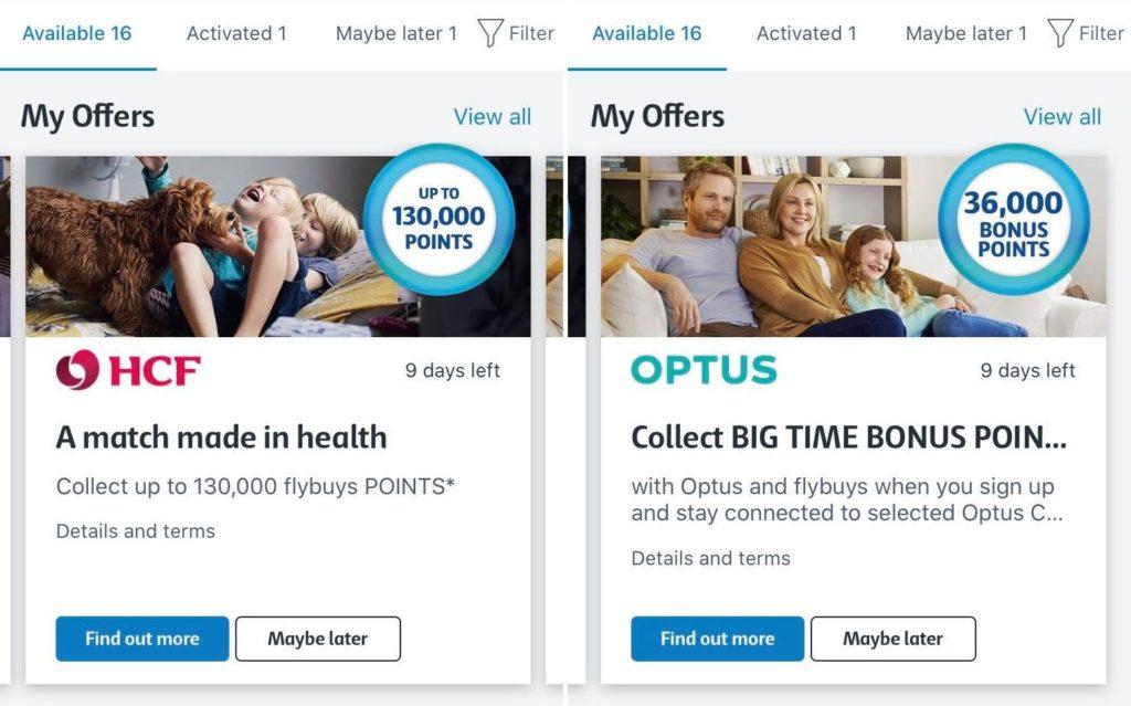 flybuys partners bonus offers