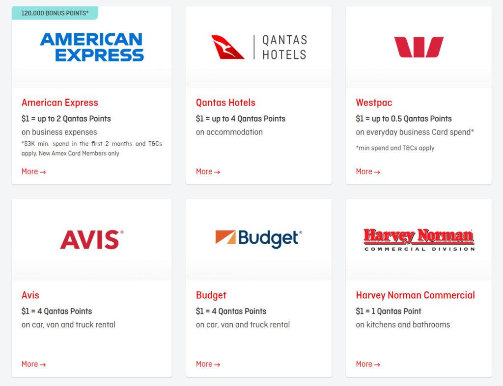 Qantas Business Rewards Partners