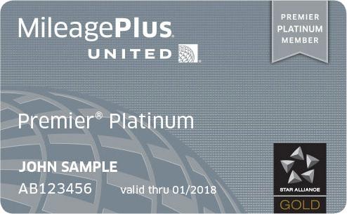 United MileagePlus Platinum card
