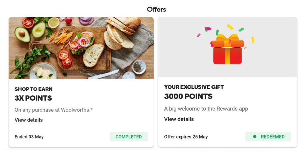 Woolworths Rewards app