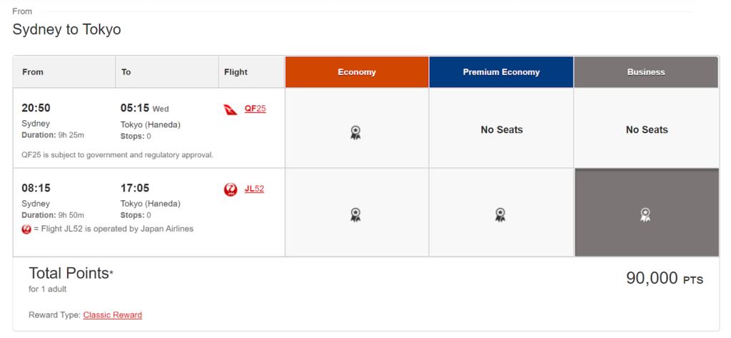 Booking JAL through Qantas