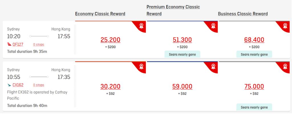 Booking Cathay Pacific through Qantas