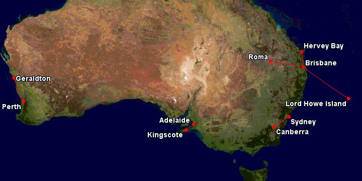 Qantas regional routes