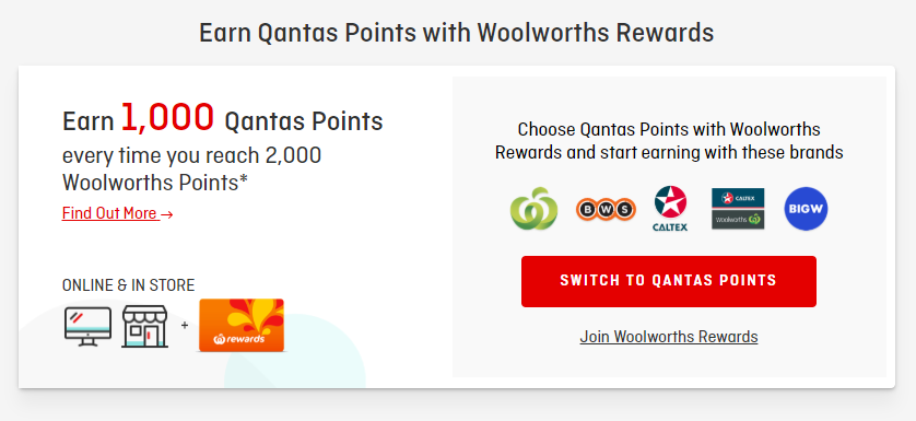 Woolworths Rewards promotions