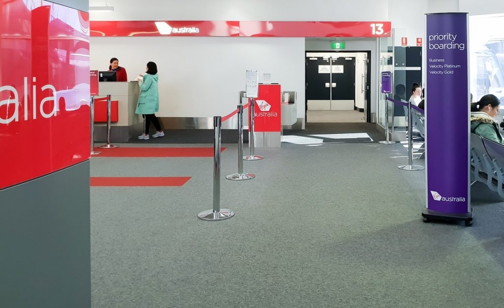 Virgin Australia checkin