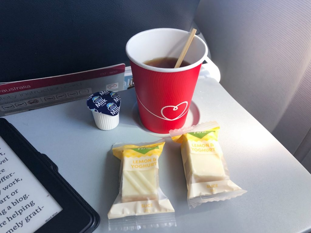 Virgin Australia onboard snacks