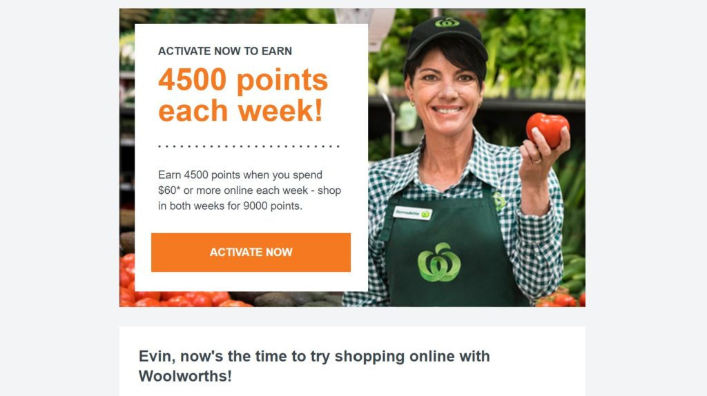 Woolworths promo