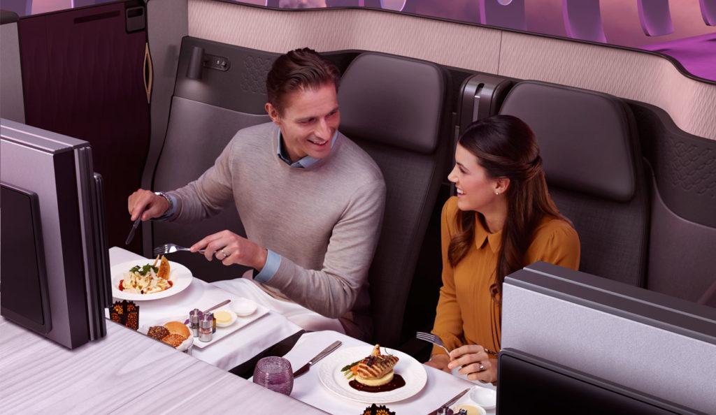 Qatar Airways Qsuite Dining