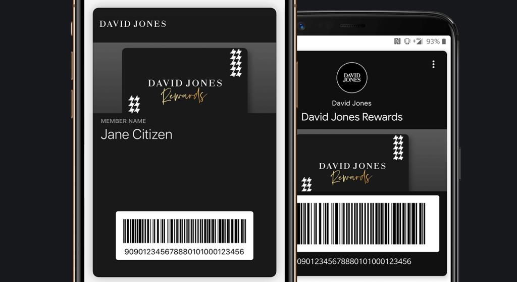 David Jones - Apple and Google Wallets