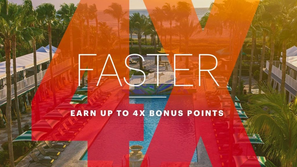 Get your next free night faster with up to 4x bonus points.