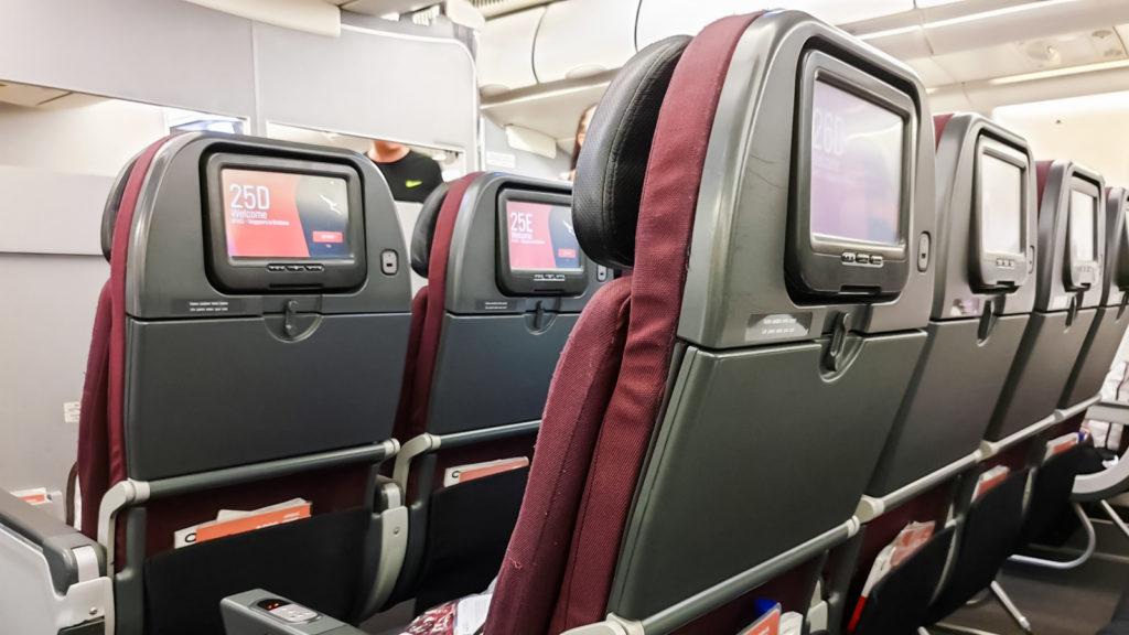 Qantas Airbus A330-200 Economy