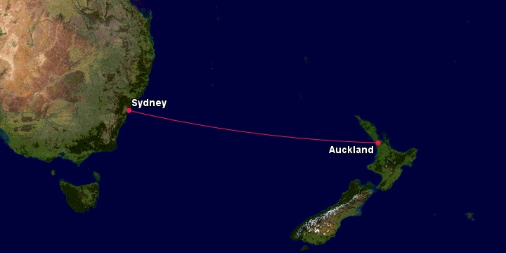 LATAM Route - Australia and New Zealand