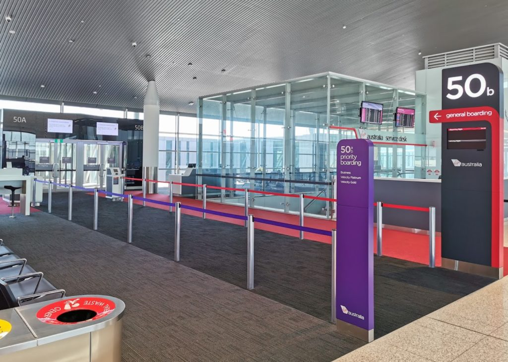 Virgin Australia A330 Boarding Lanes