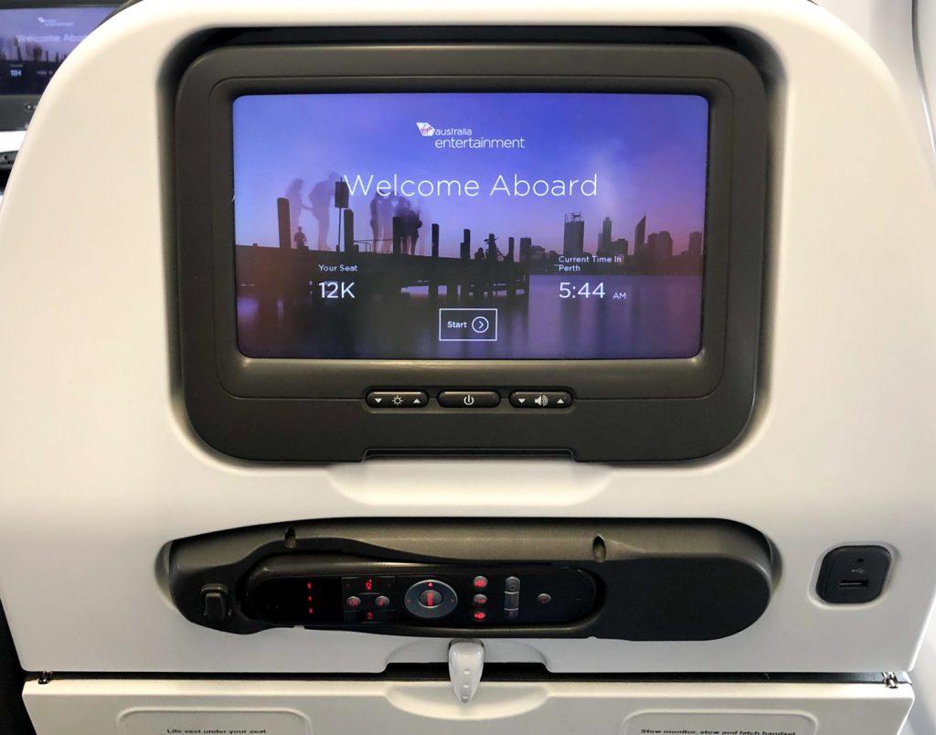 Virgin Australia A330 Econom IFE