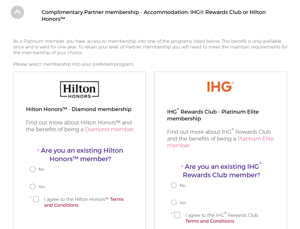 Velocity Platinum choosing Hilton Honors or IHG Rewards