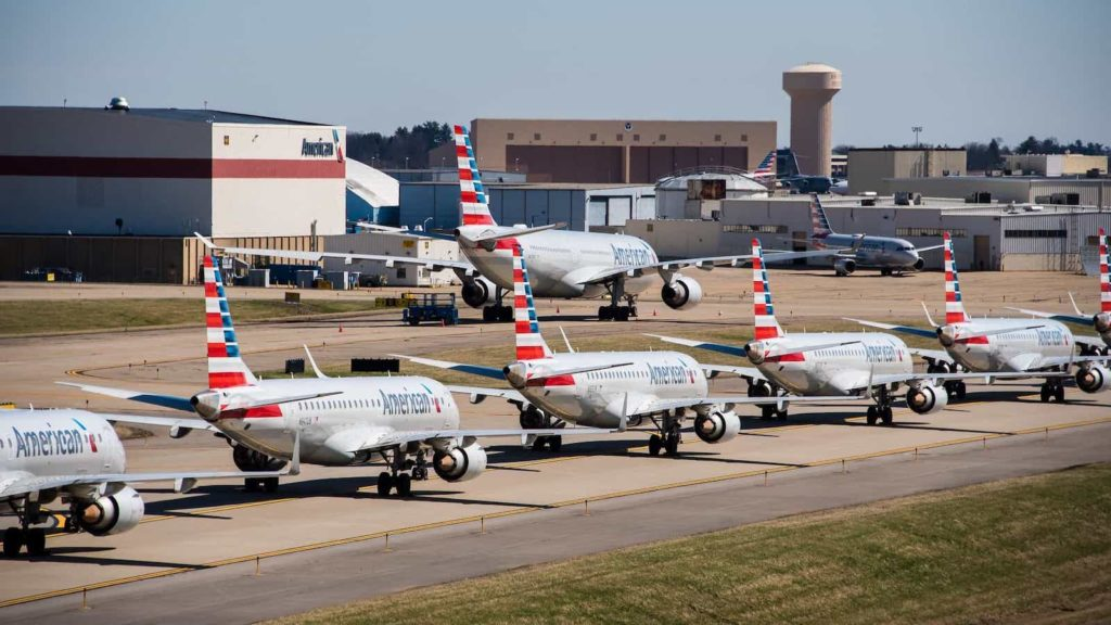 American Airlines Planes Parked on Tarmac