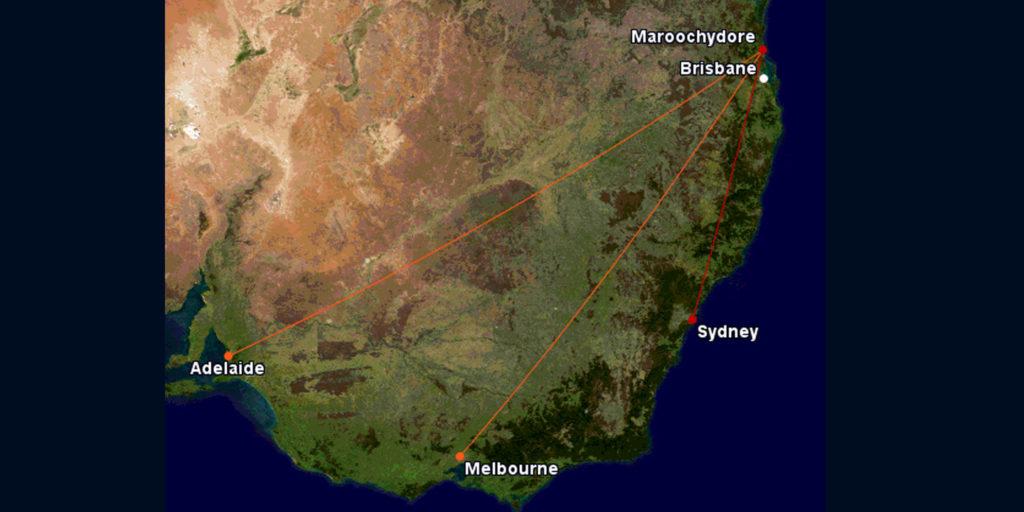 Qantas and Jetstar routes to Sunshine Coast