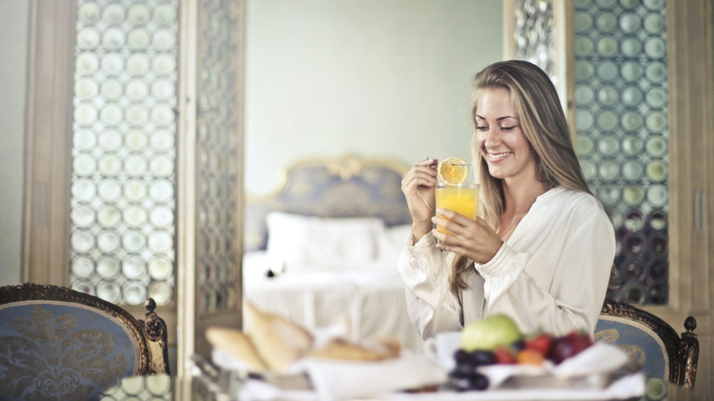 Get free breakfast at hotels