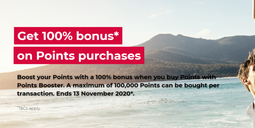 Velocity Buy Points 100% bonus