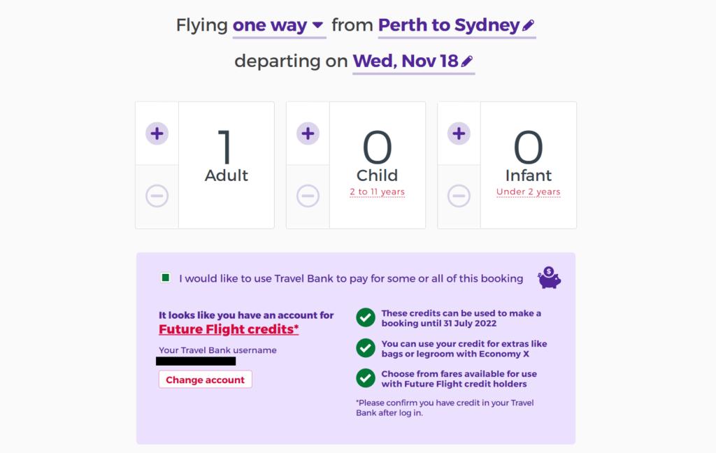 Virgin Australia booking
