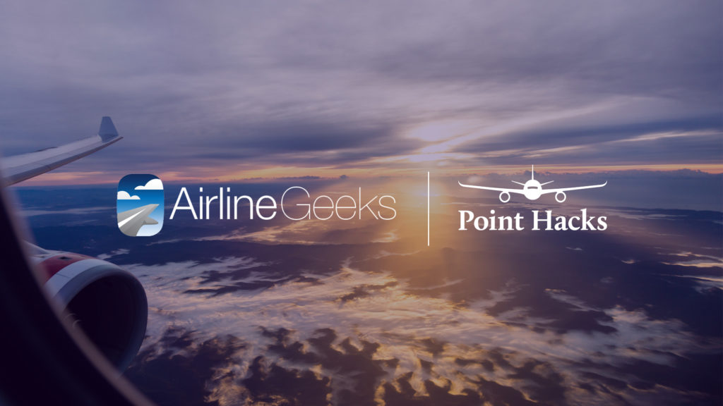 Airline Geeks Point Hacks Logos with sky background