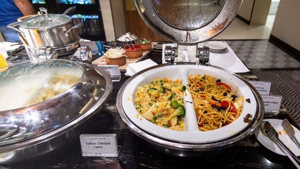 Singapore Airlines SilverKris Lounge Brisbane stir-fried noodles