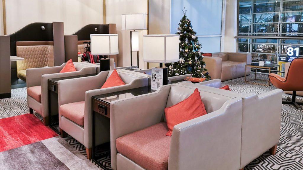 Singapore Airlines SilverKris Lounge Brisbane seating
