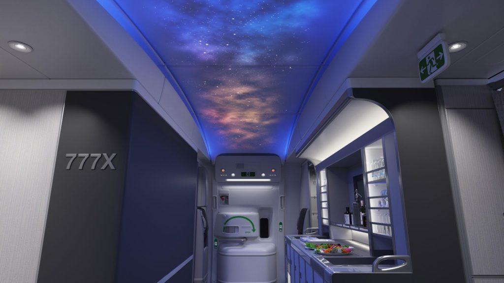Boeing 777X Interior Mockup