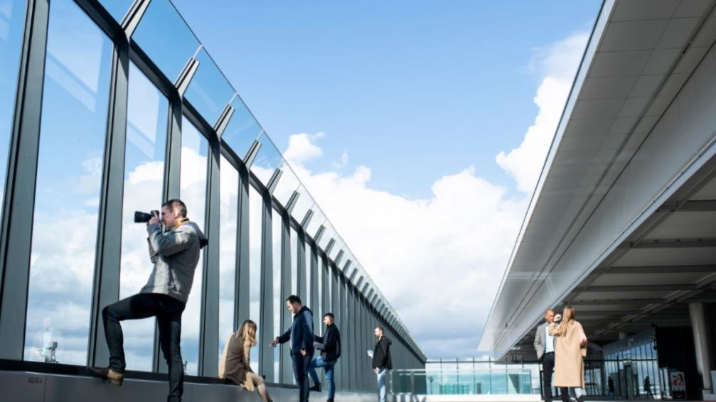 Brandenburg Airport observation deck