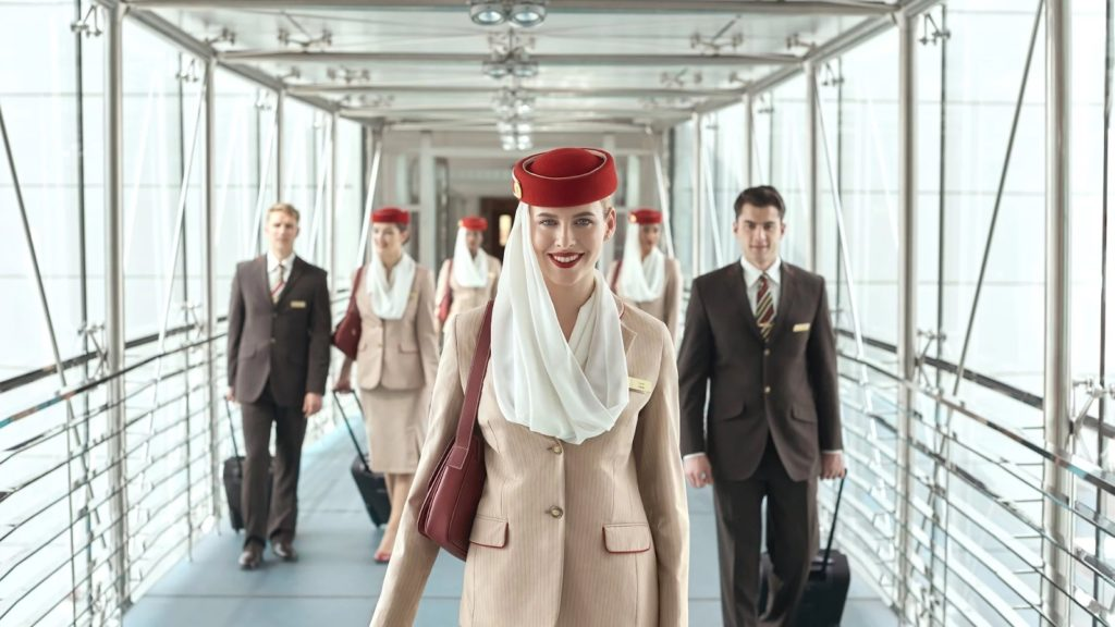 Emirates airline crew