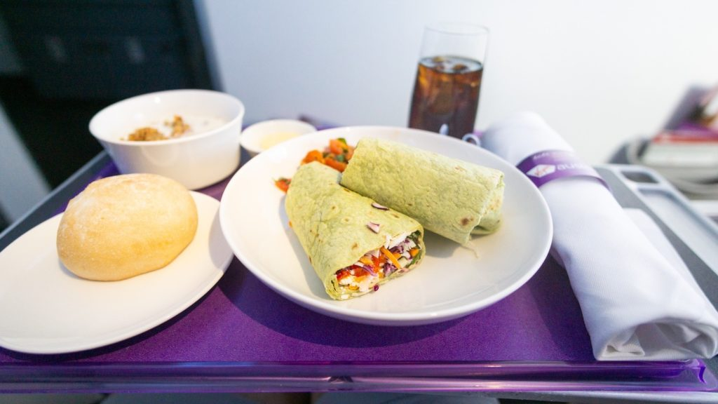 Wrap served on Virgin Australia