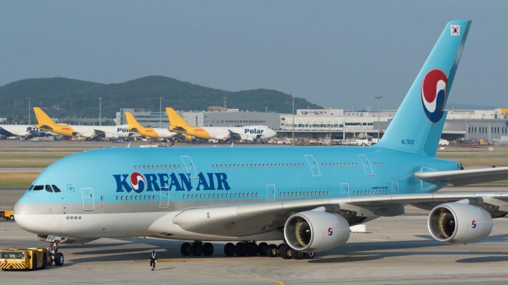 Korean Air A388 on Tarmac