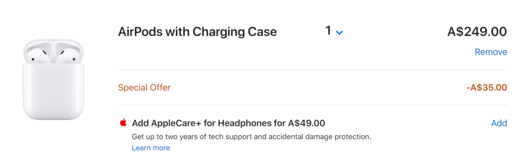 Apple Store AirPods