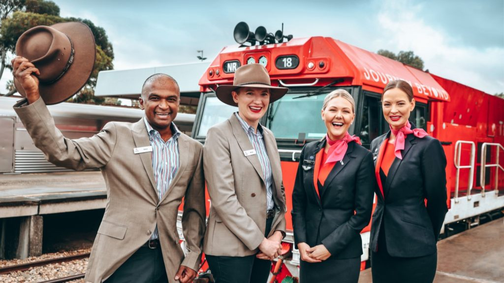 Qantas and The Ghan crew