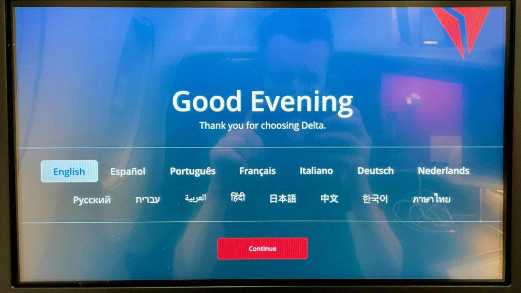 Delta One A350 Suite inflight entertainment
