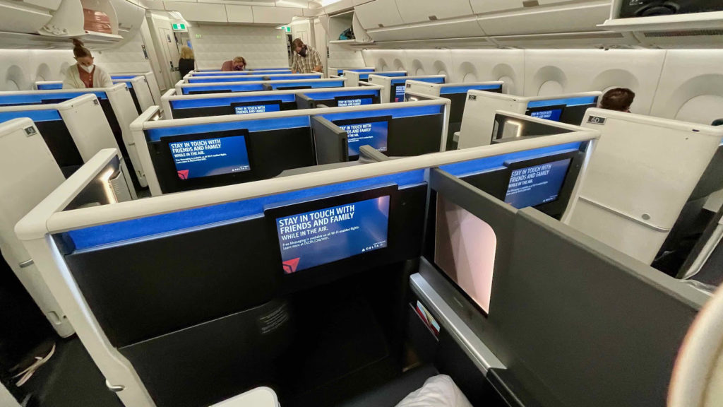 Delta One A350 Suite cabin