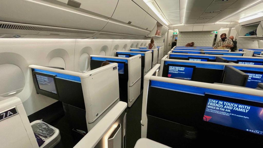 Delta One A350 cabin