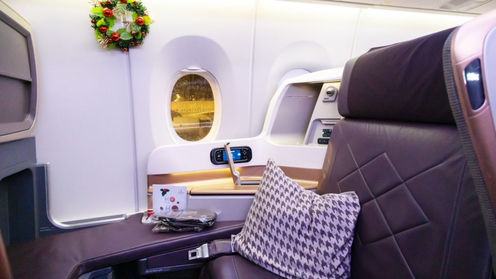 Singapore Airlines A350 Business Class - BNE-SIN seat