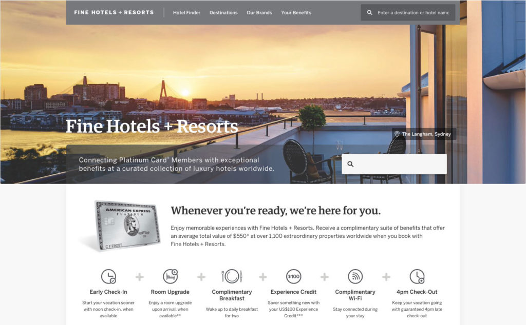 Fine Hotels + Resorts