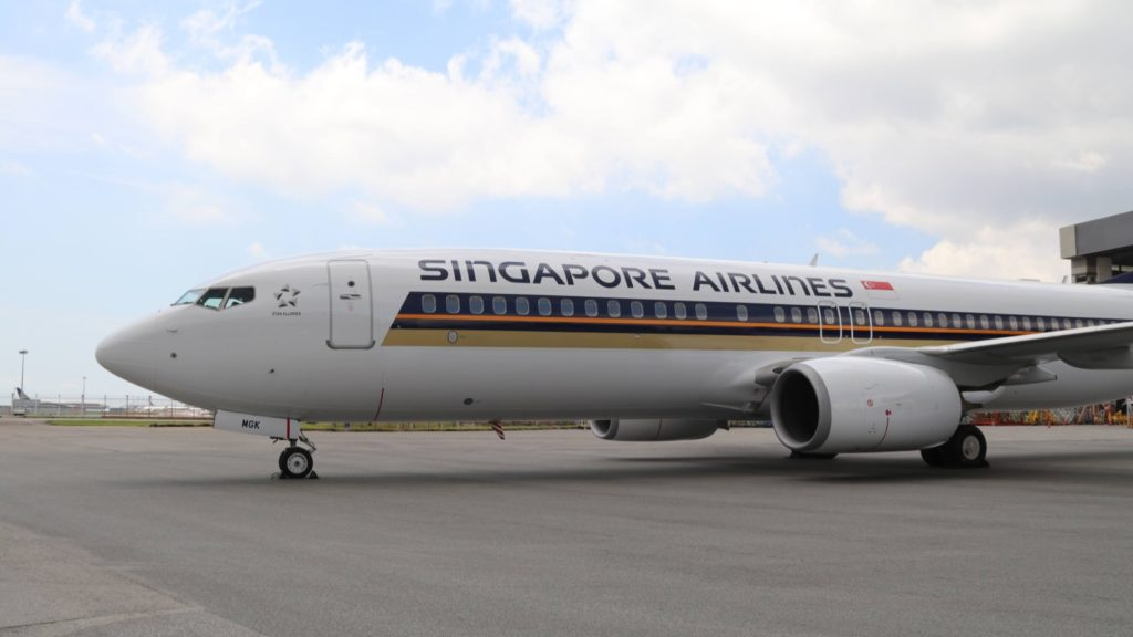 Singapore Airlines Boeing 737 Livery