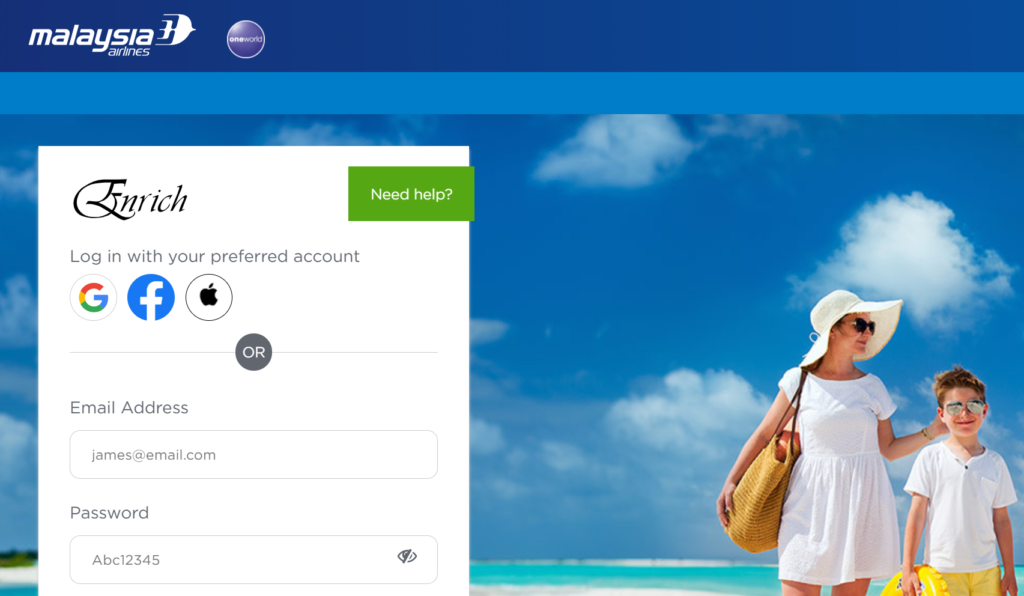 Malaysia Airlines Login