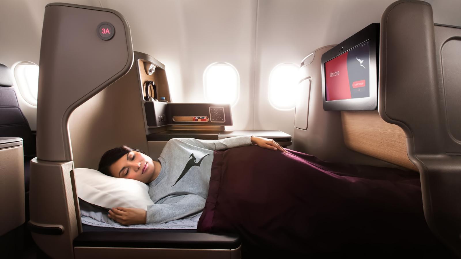 Qantas A330 Bed