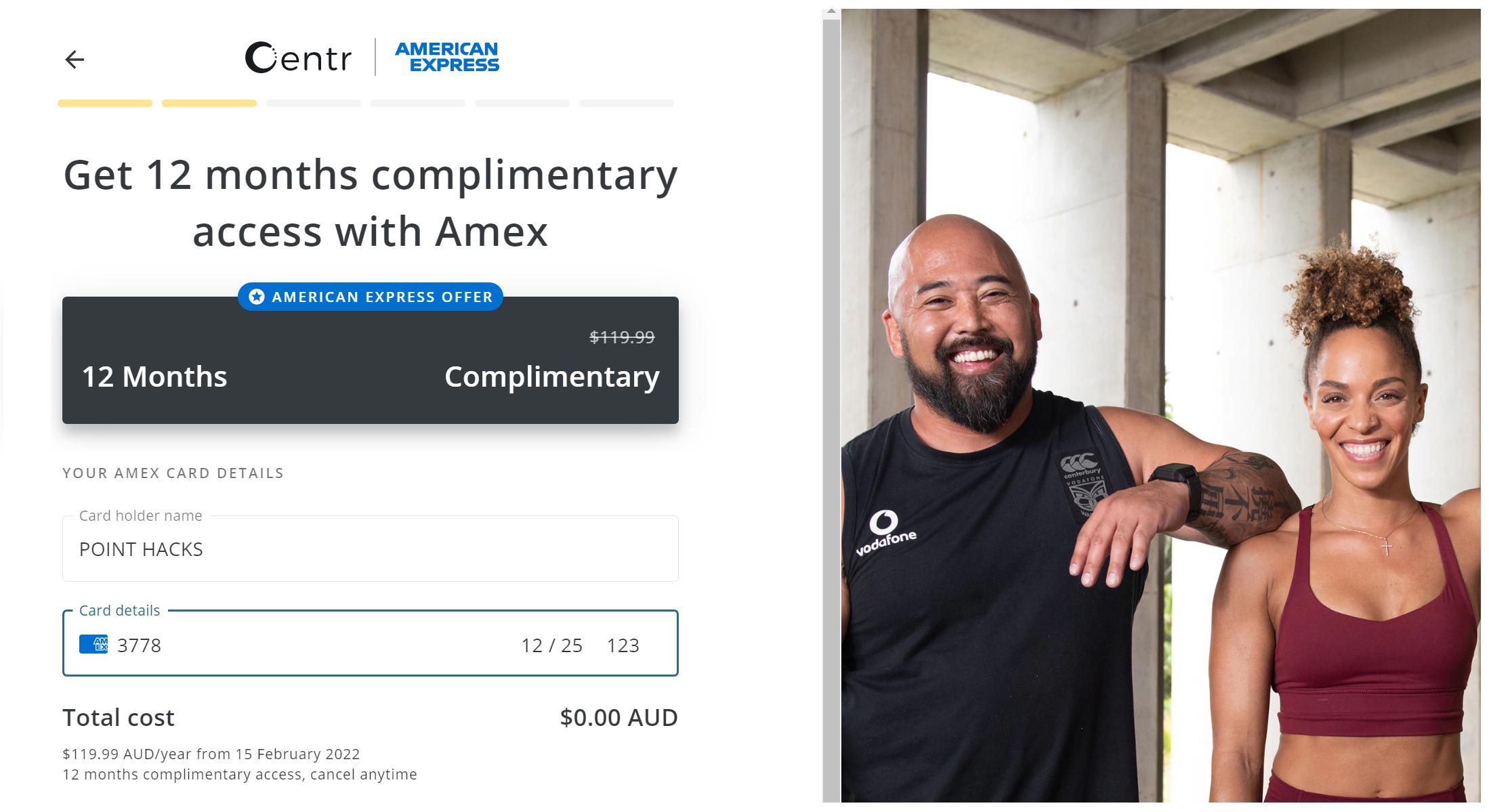 AMEX Centr Offer 2021