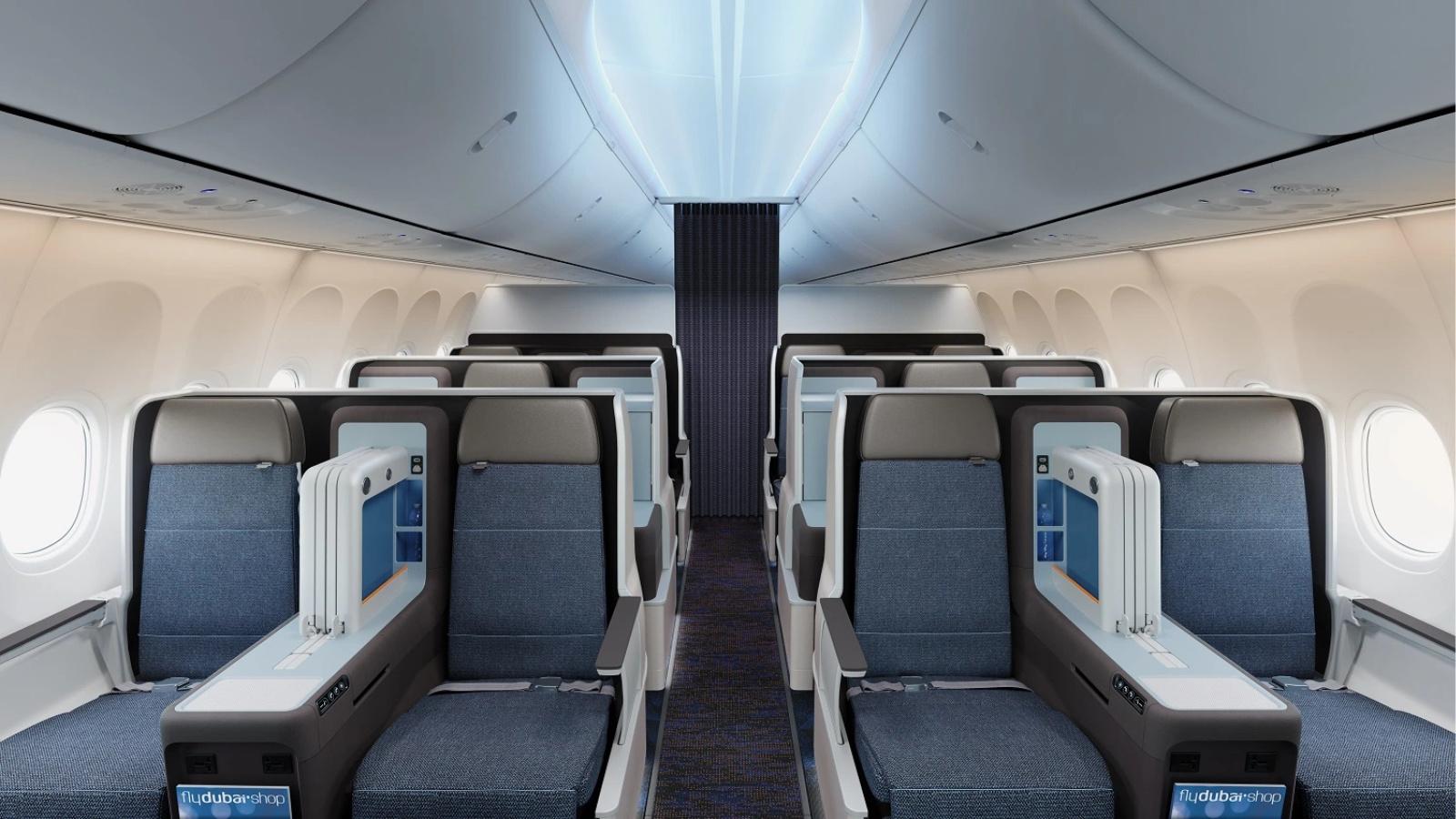 FlyDubai 737 MAX Business Cabin