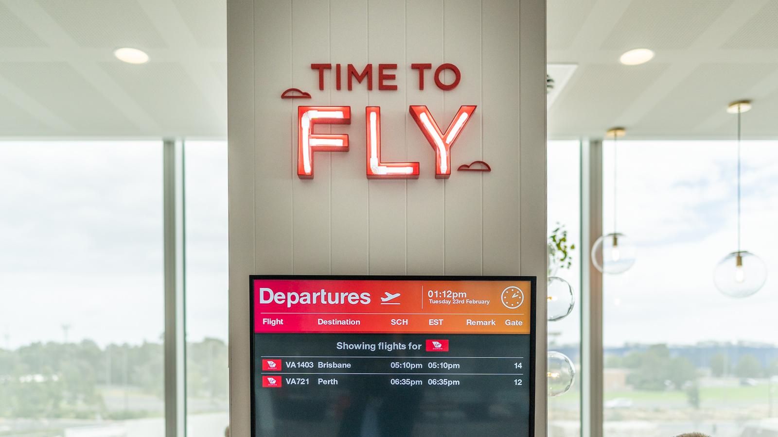 Flight Info Screens Virgin Australia Adelaide Lounge