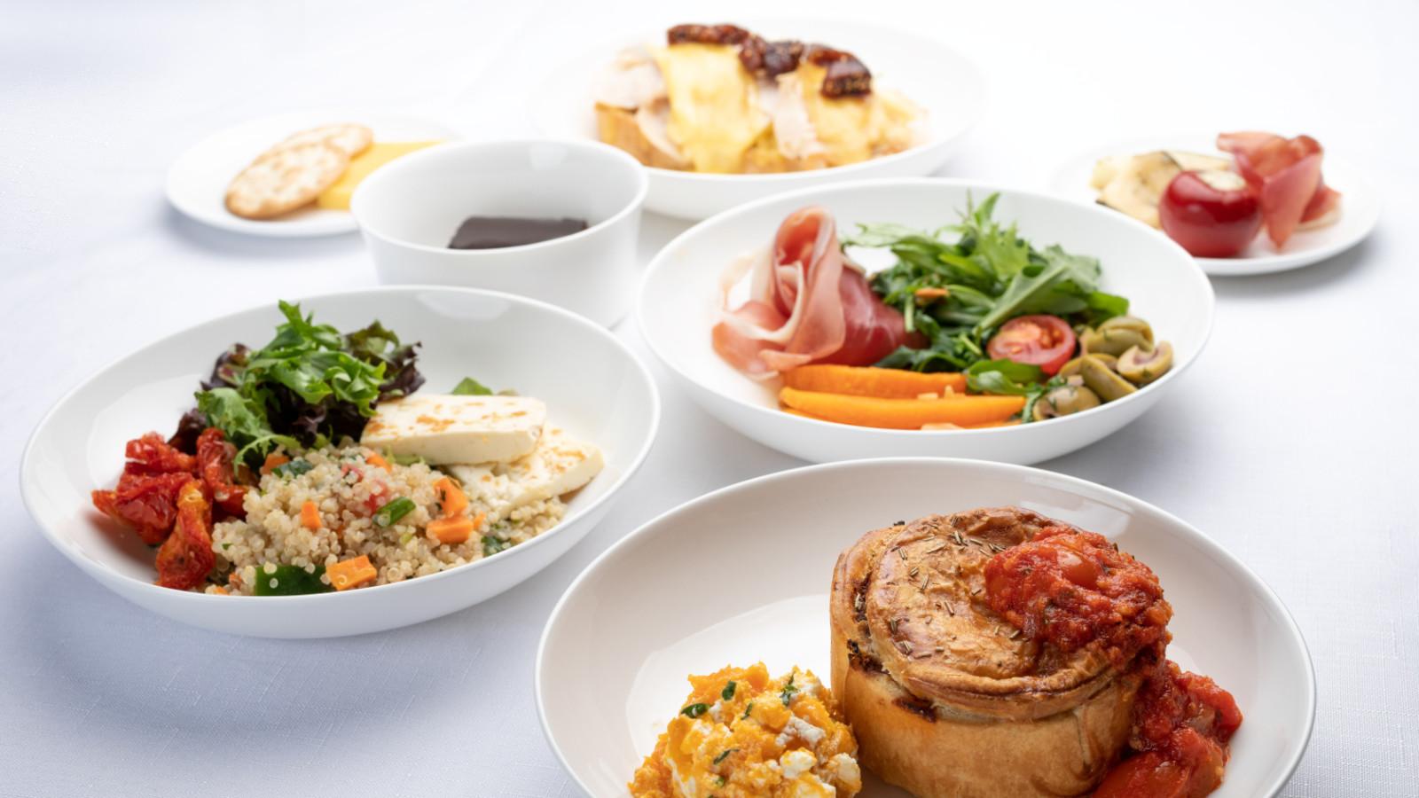 Virgin Australia Business Class Lunch and Dinner