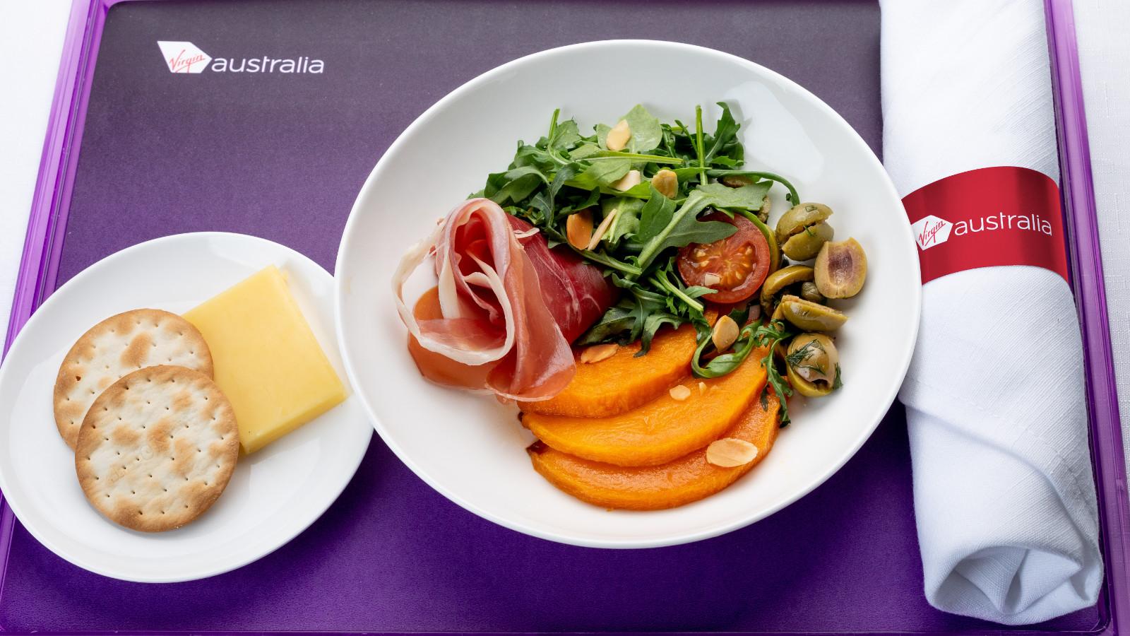 Virgin Australia Business Class Prosciutto Salad